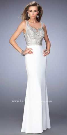 4526f1097f2 Notched Jersey Prom Dress by La Femme  edressme Vestidos