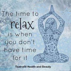Η στιγμή που έχεις μεγαλύτερη ανάγκη να χαλαρώσεις είναι όταν δεν έχεις χρόνο γι'αυτό! #time #relax #pamper #yourself #mind #body #soul #massage #facial #healthandbeautytsatrafili #healthandbeautydayspa #beautymytilene