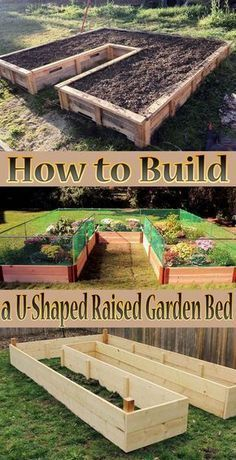 Tips How to Build a U-Shaped Raised Garden Bed. Creating your own home garden is not always an easy task, but with this DIY U-Shaped garden, it will be easy... #GardenBed #Garden #diy #gardening #raisedgardenbeds