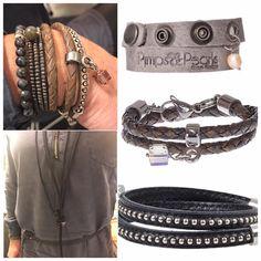 """#knhuslifestyle  We hebben weer een heleboel nieuwe sieraden binnen van  #pimpsandpearls Een geweldig Nederlands merk met een unieke stoere collectie!  Nieuwsgierig? Kom gerust even langs om deze """"pareltjes"""" te bewonderen.  #knhuslifestyle #haverstraatpassage #enschede #pimps&pearls #leather"""