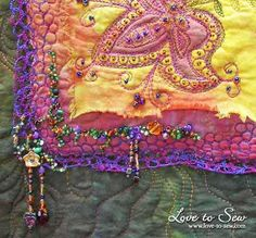 How to make bead dangle embellishments for fabric