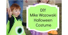 Mike Wazowski Fancy Dress, Mike Wazowski Halloween Costume, Monsters Inc Costume Diy, Monster Inc Costumes, Family Halloween, Cute Halloween, Holidays Halloween, Toddler Costumes, Diy Costumes