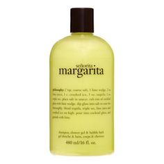 Philosophy Senorita Margarita Shampoo Shower Gel & Bubble Bath, 16 Oz Image 1 of 3 Philosophy Shower Gel, Triple Sec Cocktails, Holy Grail Products, Lime Wedge, Schnapps, Cocktail Glass, Molecular Gastronomy, Bubble Bath, Simple Syrup