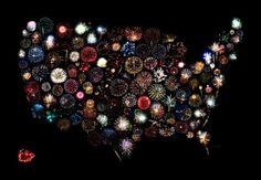 America in fireworks