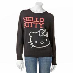 0e6153e99884 Hello Kitty Stripe-Back Sweater - Juniors