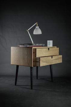 Big Nightstand / Bed SIde Table in Solid Oak on Behance