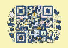 QR Codes by Am I Collective , via Behance
