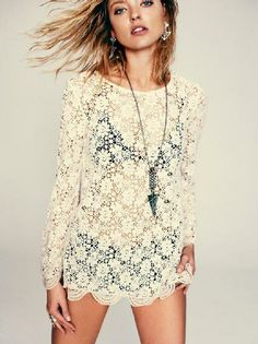 Infinite Arms Lace Tunic from Free People #poachit