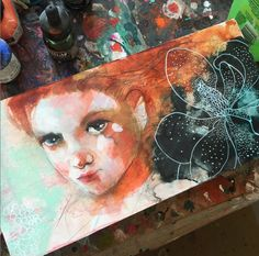 Maria Pace-Wynters mixed media artist portrait painting artwork