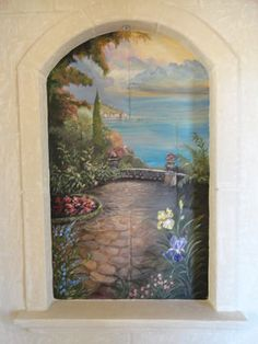 Mediterranean Home Italian Mural Design, Pictures, Remodel, Decor and Ideas