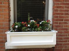 window box by New York Plantings http://www.newyorkplantings.com/CustomPlanters.html outdoor planter, Garden planter, custom planters NYC, IPE planters NY, planter boxes for rooftop gardens, Hanging Planters, Contact: 347 558 7051