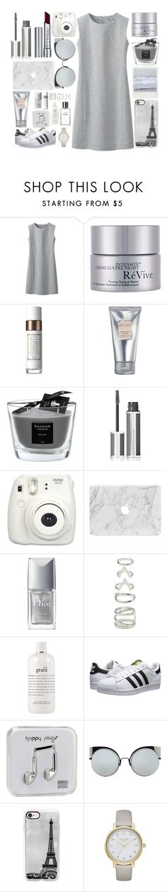 """""""Everything is grey"""" by xcuteniallx ❤ liked on Polyvore featuring Uniqlo, RéVive, Fresh, Laura Mercier, Baobab Collection, Givenchy, Fujifilm, Christian Dior, Forever 21 and philosophy"""