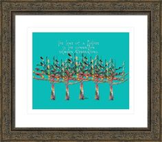trees colorful w quotation love of mother 1r, by  fractal mandala art