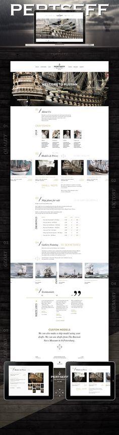 Pertseff Shipmodel Gallery, Сайт © АлексейМасалов