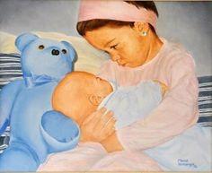 TENDRESA (2002) RETRAT 33X41cm OLI SOBRE TAULETA ENTELADA  #barcelona #mercearmengol #artista #ilustradora #pintora #cuento #infantil #retrato #retratoporencargo