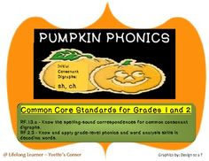 This is a 22 page Pumpkin Phonics center/unit for Halloween.  You could also use this unit for the Fall season.  It focus on Consonant Digraphs for primary grades.  This unit is Common Core aligned!  Have fun and enjoy!!!