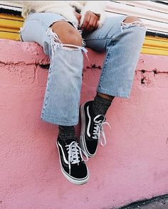 Matching sparkly socks with our Vans is our favorite holiday pairing.   via @imlvh