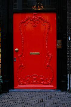 Red Door Entrance Beautiful Ideas For 2019 Grand Entrance, Entrance Doors, Doorway, Cool Doors, Unique Doors, Portal, Knobs And Knockers, Door Knobs, Best Front Doors