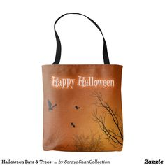 Halloween Bats & Trees - All-Over-Print Tote Bag