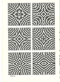 vintage pop art optical illusion art print book plate