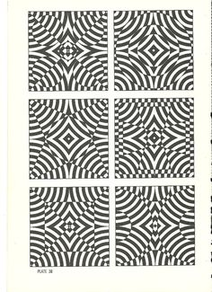 vintage pop art optical illusion art print book plate