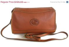 ON SALE Vintage Dooney Bourke Shoulder Handbag AWL Leather