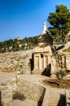 Tomb of Absalom, Jerusalem, Israel   Absalom was the 3rd son of David, King of Israel w/Maachah, daughter of Talmai, King of Geshur. He is described as the most handsome man in the kingdom. He rebelled against his father and was killed during the Battle of Ephraim Wood.