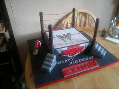 wrestling cakes | WWE wrestling ring — Birthday Cakes