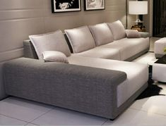 32 Lovely Modern Sofa Set Designs For Living Room. For instance one of the pictures featured here are of a white sofa that is l shaped. This same piece  Sofa Set Designs, L Shaped Sofa Designs, Wooden Sofa Designs, Living Room Sofa Design, Living Room Interior, Living Room Designs, Living Room Sofa Sets, Beige Couch, Beige Sectional