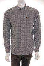Lyle and Scott Mens Shirt Black b_XXL Gingham Slim Fit - Various Size Options