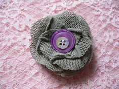 Fabric Brooch...I want to make these