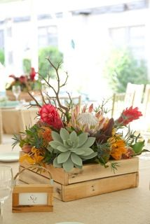 Beautiful rustic handmade reclaimed wood boxes with gorgeous florals