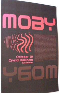Moby Poster Concert $9.84 #Moby