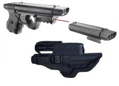 ''PACK'' Pistolet JPX Noir LASER (Étui cordura + recharge active)