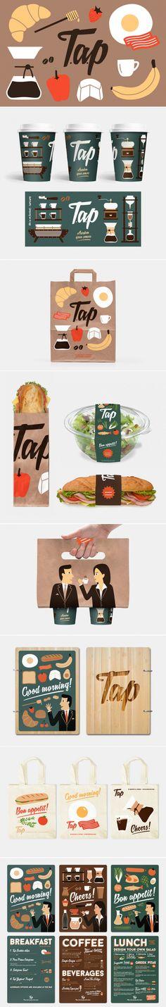Tap Espresso & Salad Bar Branding and Packaging — The Dieline | Packaging & Branding Design & Innovation News