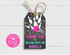 Bowling Pin Party Favor Gift Tags Bowling Birthday Party | Etsy Bowling Party Favors, Bowling Party Invitations, Party Favor Tags, Birthday Party Favors, Party Gifts, Gift Tags, Party Needs, Some Text, Thank You Tags