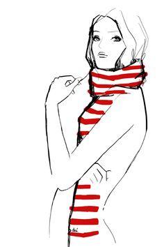 girl with scarf by Garance Dorè