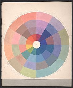 This simple yet hypnotizing use of color is utterly inspirational. via the Archives of American Art. Citation: Color wheel, 19--? . Rudolph Schaeffer papers, Archives of American Art, Smithsonian Institution.