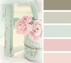 shabby chic paint colors palette: