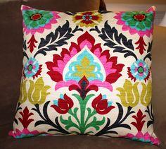 Custom 20 inch Pillow - Waverly Desert Flower. $40.00, via Etsy.
