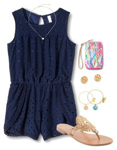 """""""happy Sunday! """" by morganmestan ❤ liked on Polyvore featuring Xhilaration, Jack Rogers, Alex and Ani, Tory Burch, Lilly Pulitzer and Kendra Scott"""