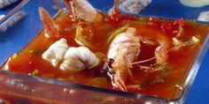 Francouzská rybí polévka. Recepty — Podravka   S Podravkou chutná lépe Shrimp, Meat, Food, Meals, Yemek, Eten