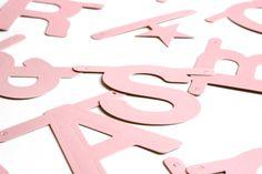 Sixten & Co letterslinger word banner roze