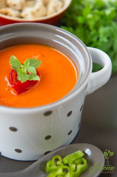 Supa crema de ardei copti Daily Meals, Thai Red Curry, Yummy Food, Healthy Food, Vegan, Ethnic Recipes, Homemade Food, Soups, Summer