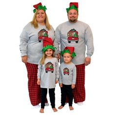 Get these Long Sleeve Vintage Christmas Truck Pajamas and have them personalized for the whole family! Start new traditions or continue old ones with these fun Christmas Pajamas. #matchingchristmaspajamas #christmaspajamas #familychristmaspajamas #polarexpresspajamas #christmas #holidaypajamas #christmasgift #christmasphotoideas #pajamas #personalizedpajamas #christmas2020 #christmas #pressed4fun #p4f #fununiquecute #holidaypartyoutfit #holidaygift #holidaypartyideas #holidayparty Matching Christmas Pajamas, Family Christmas Pajamas, Holiday Pajamas, Christmas Truck, Christmas Shirts, Christmas Sweaters, Christmas Eve, Vintage Christmas, Polar Express Pajamas