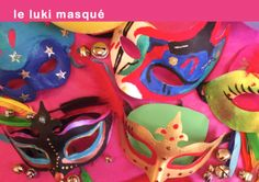 Les masques des enfants du Luki-Atelier. Bastille.  http://www.luki-atelier.fr