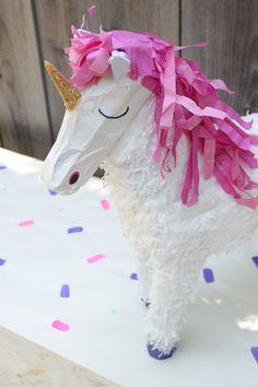 unicorn piñata. | a 5 minute makeover