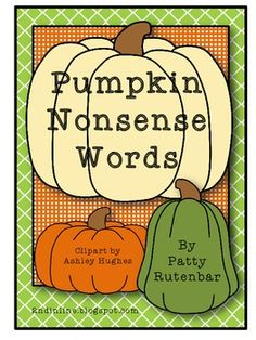 Pumpkin Nonsense Words - FREE!