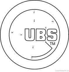 Chicago Cubs Logo Dot To Dot
