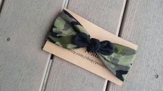 Camo in Action Headband Top Knot Wrap//Sizes Newborn-Adult on Etsy, $10.00